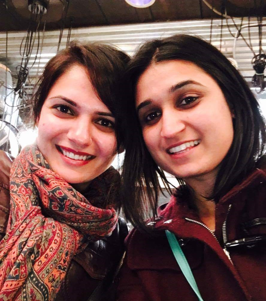 With Anuja, a friend from high school, whom I bump into every 6 years in different cities around the world!